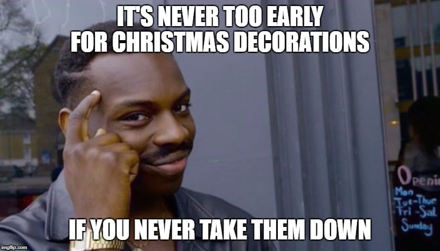 clean christmas meme decorating for the holidays