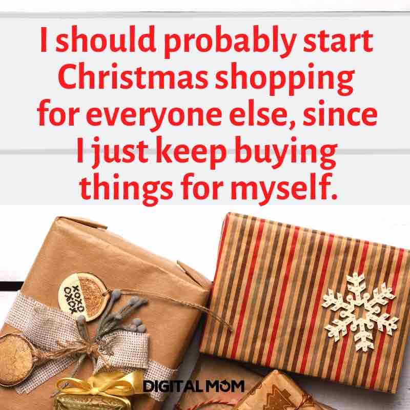 I should probably start Christmas shopping for everyone else since I just keep buying things for myself. christmas shopping meme