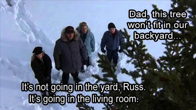 huge christmas tree meme christmas vacation