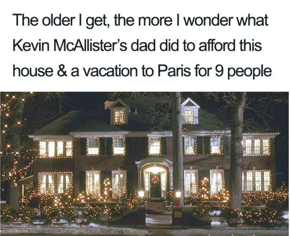 home alone parents meme