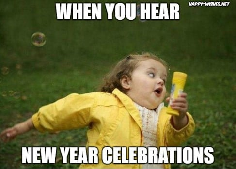 When you hear New Year celebration - RUN!