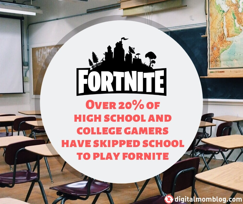 skipping school to play fortnite - fortnite stats