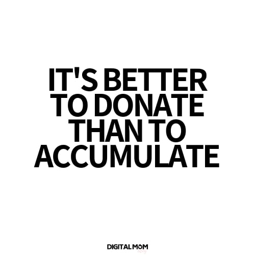 It's better to donate than acculmulate - Marie Kondo Memes