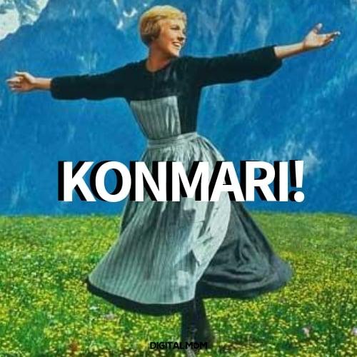 Konmari sound of music meme