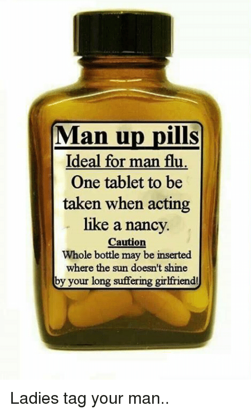 man pills for the man flu