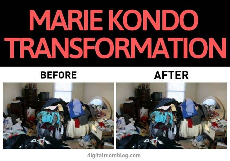 Marie Kondo Transformation Photo - Before and After