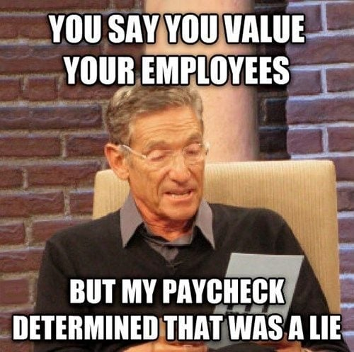 paycheck meme about work