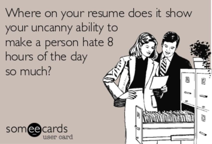 Work Memes - resume