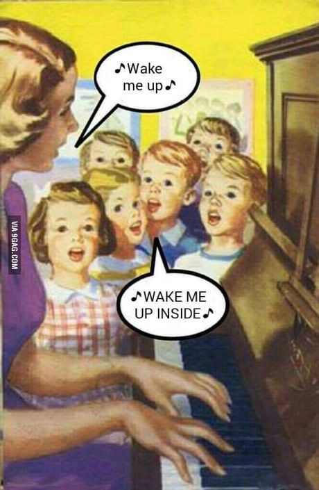 wake me up meme