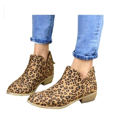 ankle booties leopard print