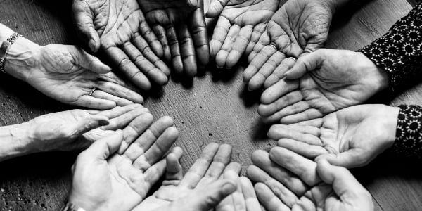 diverse color hands