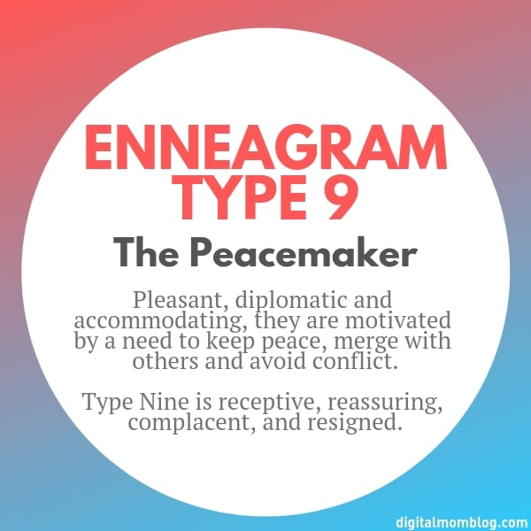 About Enneagram Type 9