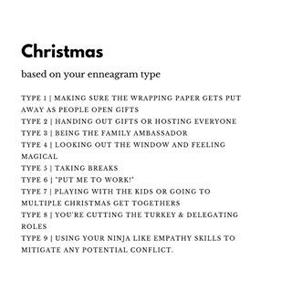 enneagram christmas