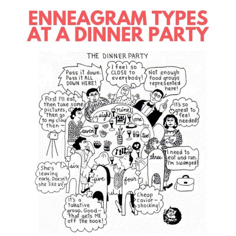 enneagram types dinner party meme