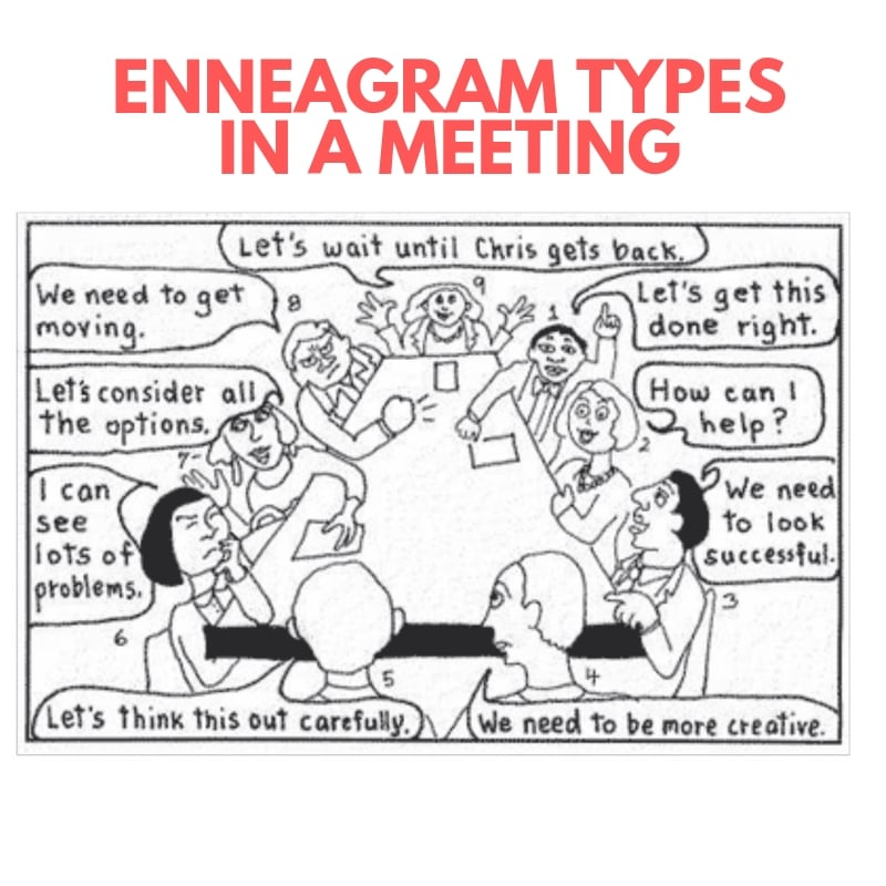 enneagram types in a meeting