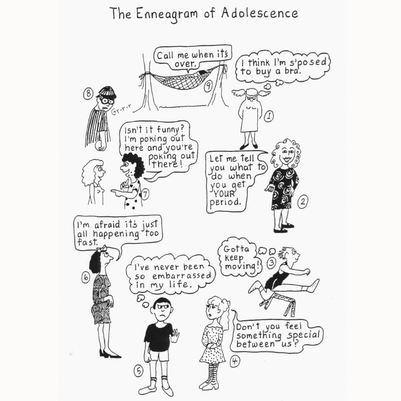 Enneagram of Adolescence meme