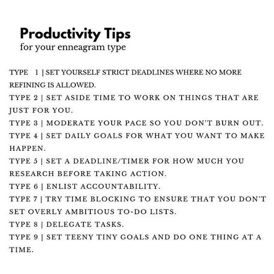enneagram productivity tip