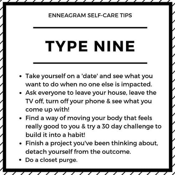 enneagram type 9 meme selfcare