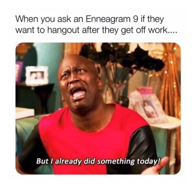 enneagram memes type 9