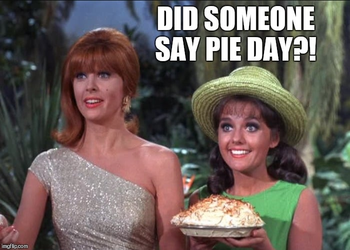 Gilligans Island Ginger and Mary Anne bring Pie on Pi Day