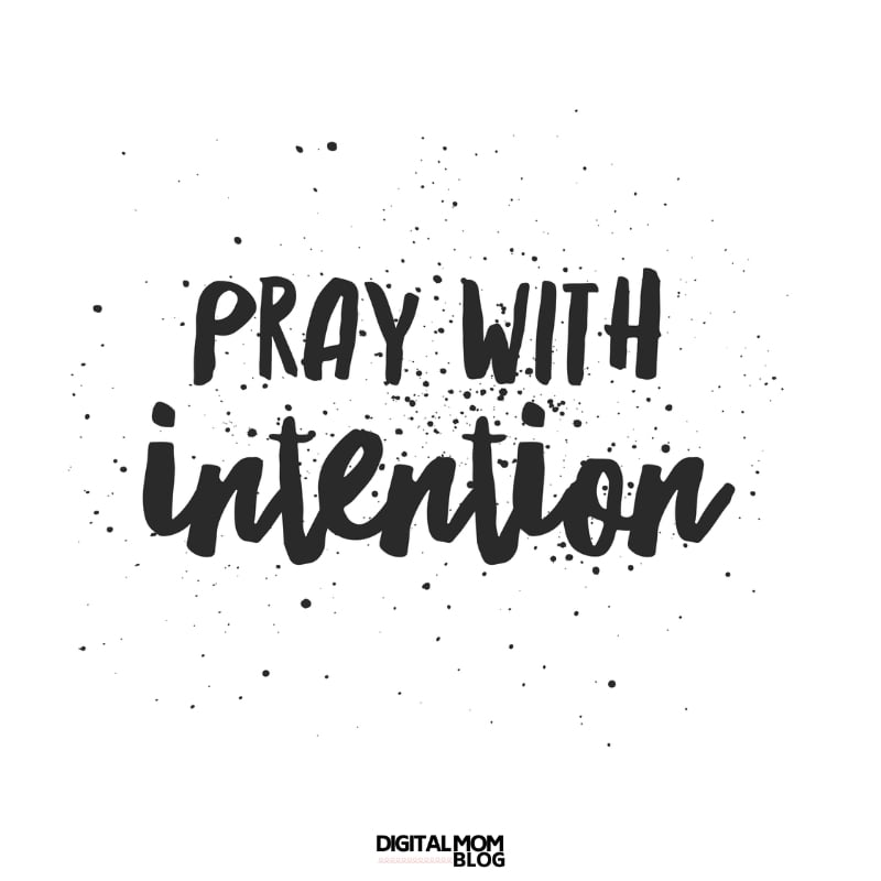 intentional prayer