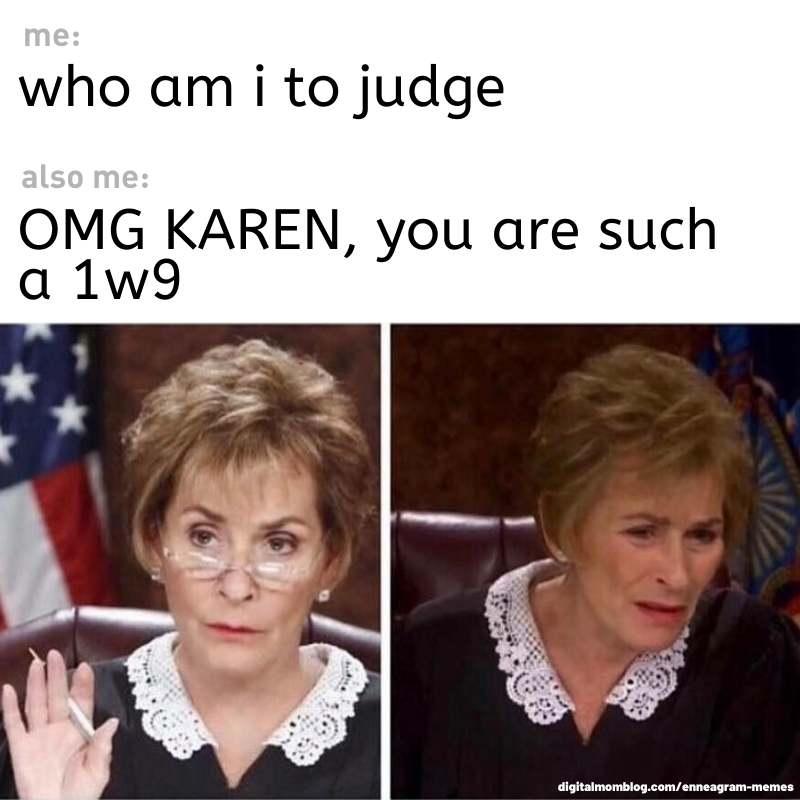 judgement enneagram meme