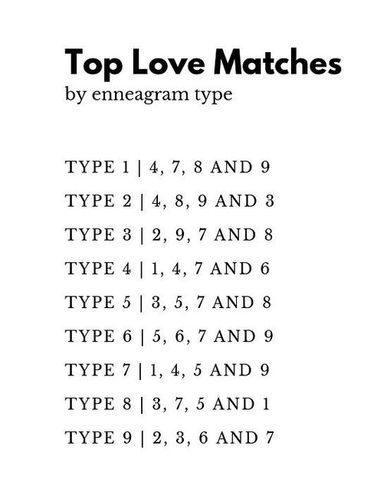 love matches enneagram