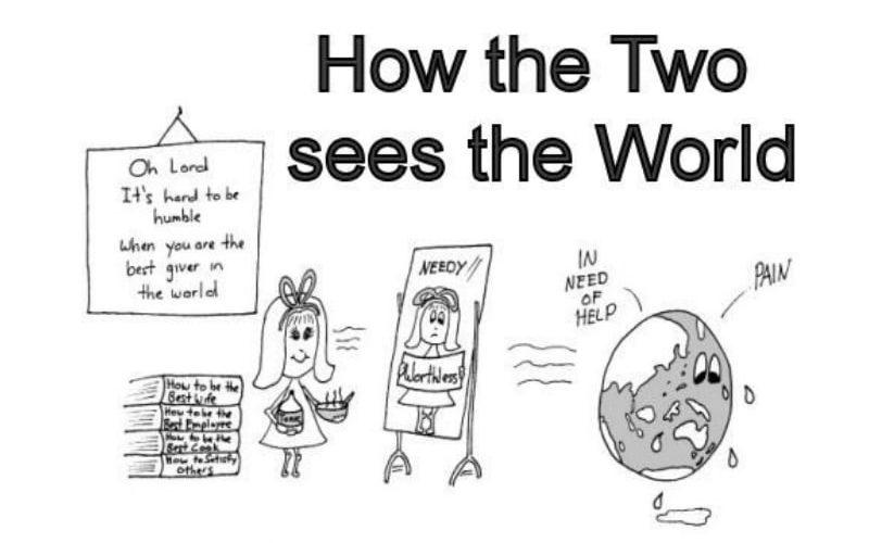 Enneagram Type 2 - how the twos see the world - enneagram meme