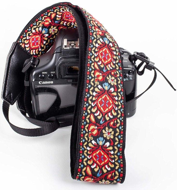 Red Vintage Camera Shoulder Strap
