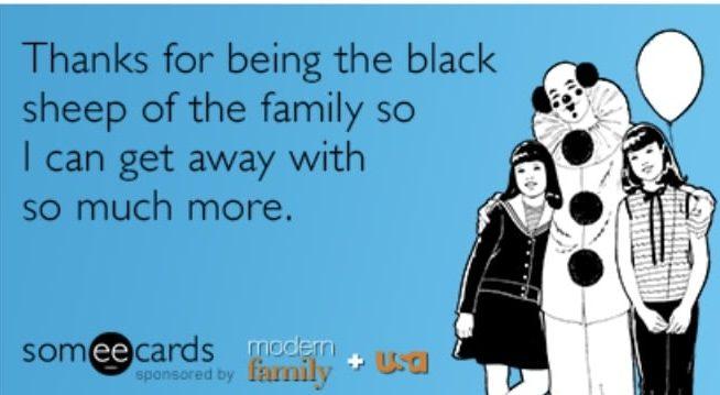 blacksheep family meme