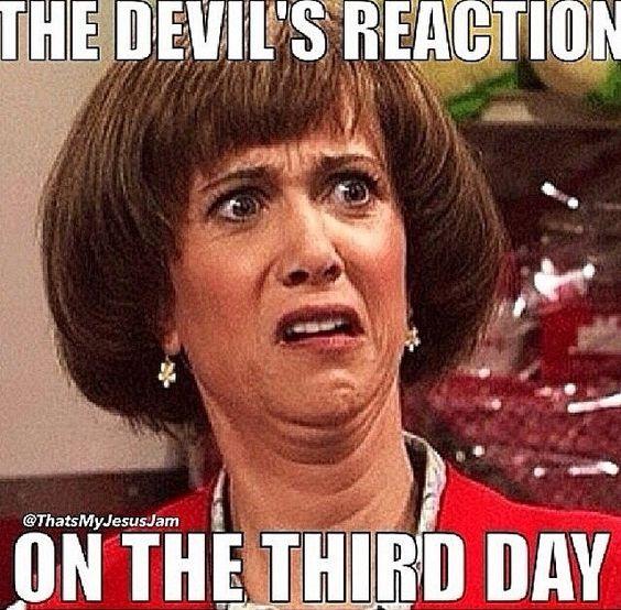 Devil Meme about Easter