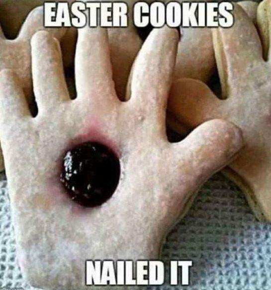 easter jesus cookies nail in hand cookies - easter cookies nailed it