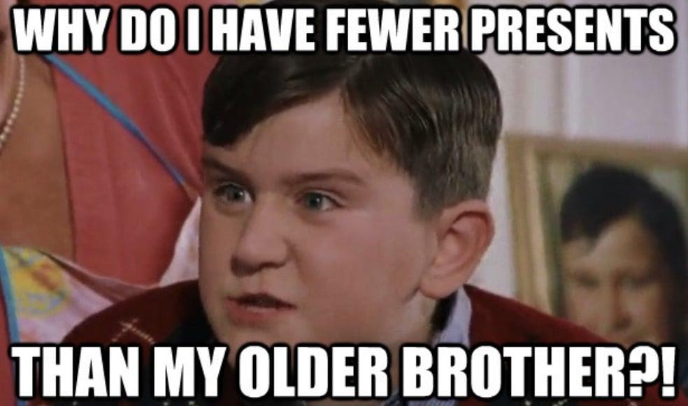 fewer presents meme