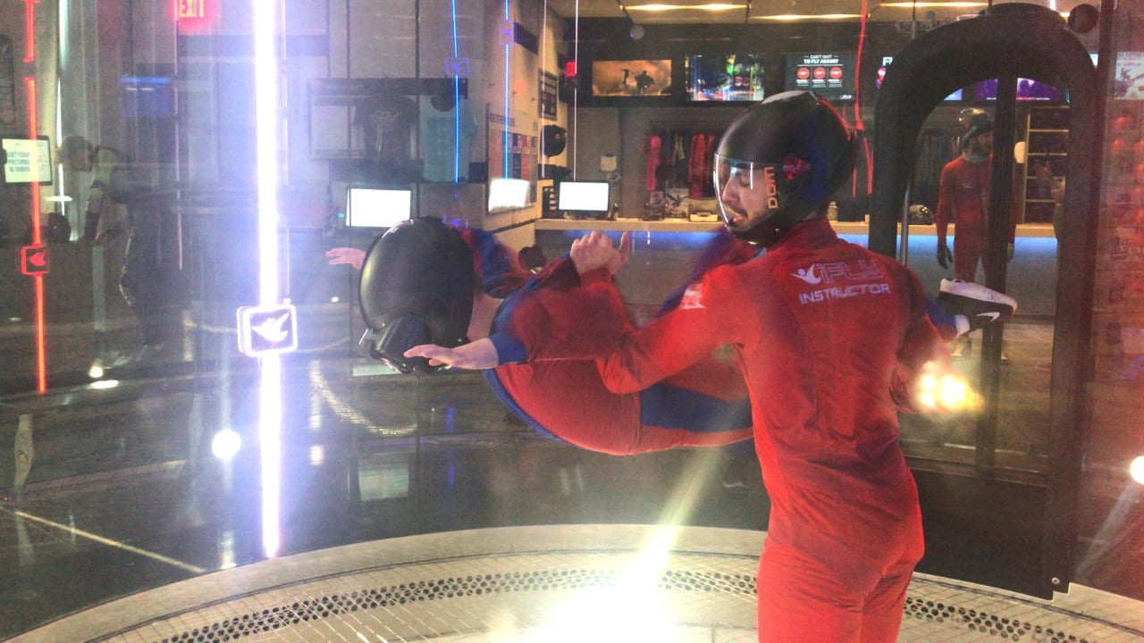 ifly indoor skydiving virtual reality flying experience
