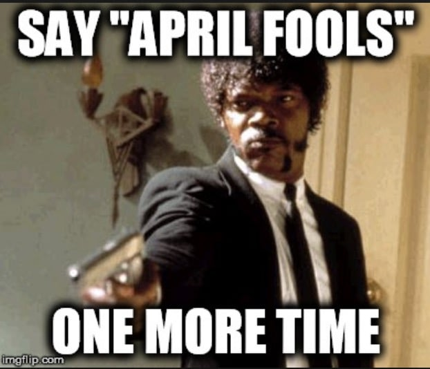 pulp fiction april fools meme