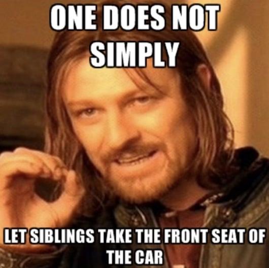 sibling shotgun