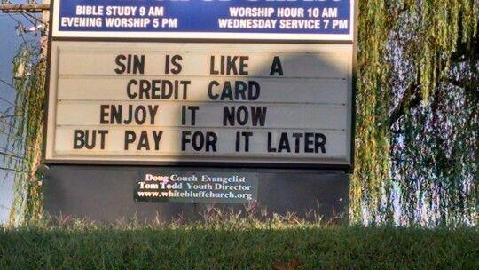 sin credit card