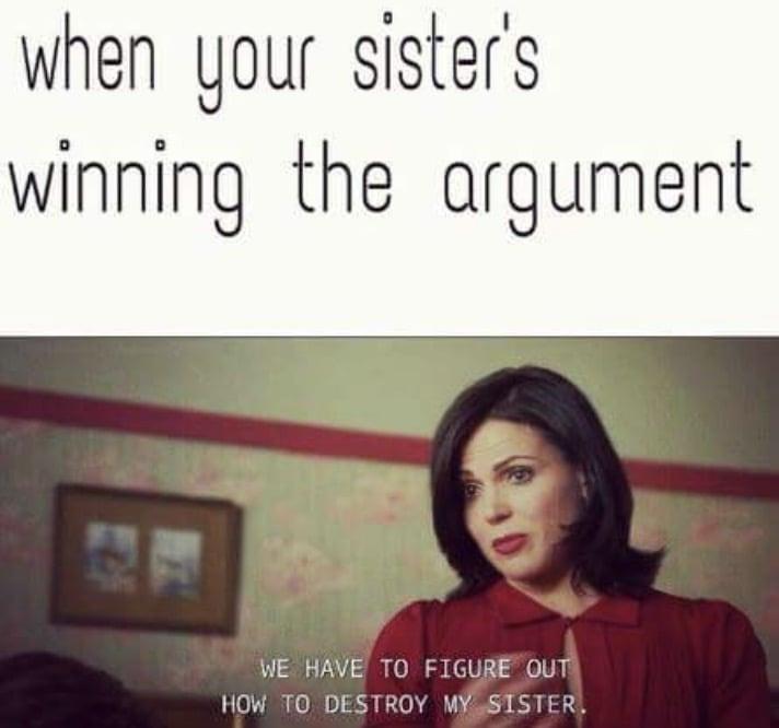 sisters argument