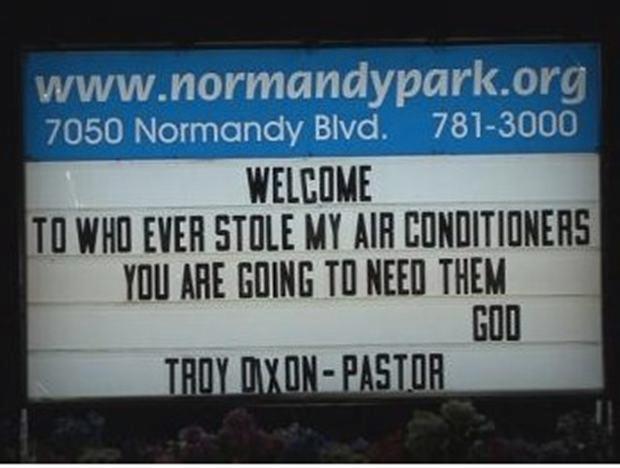 stolen air conditioner