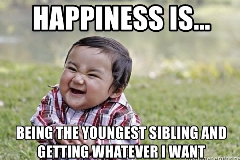 young sibling happy