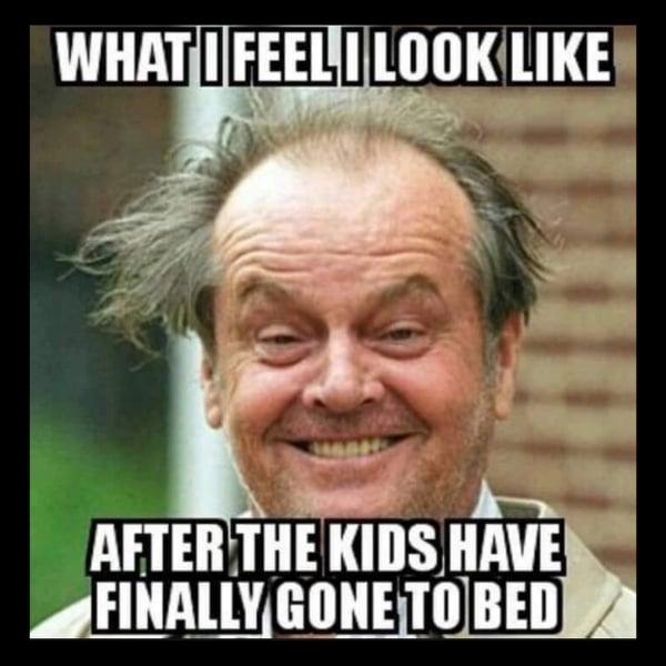 kids in bed meme