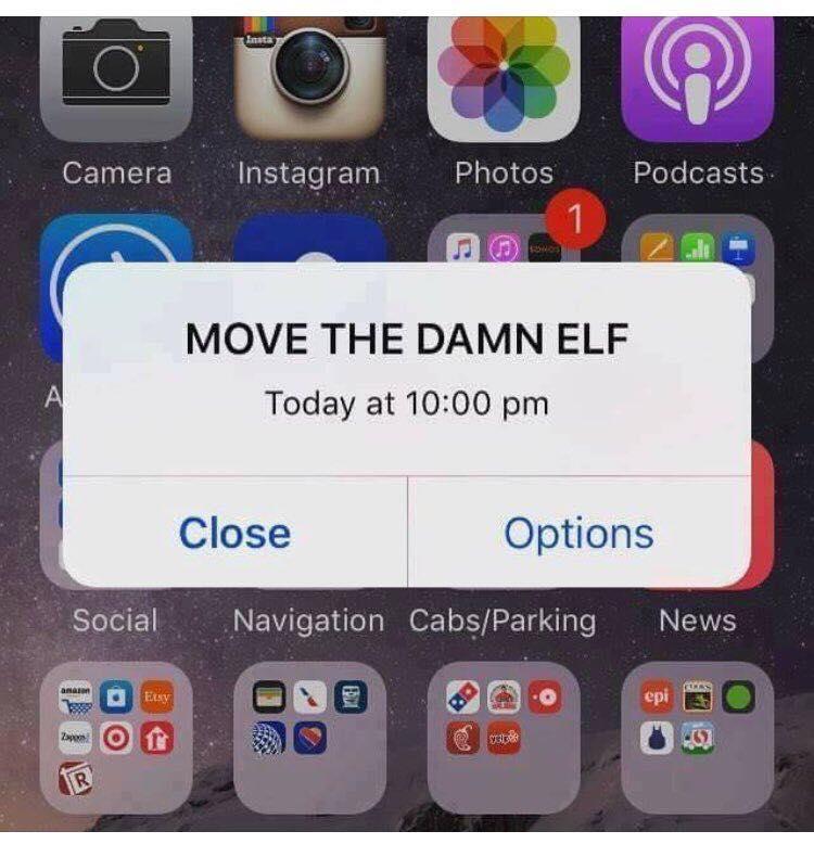 move the damn elf mom meme