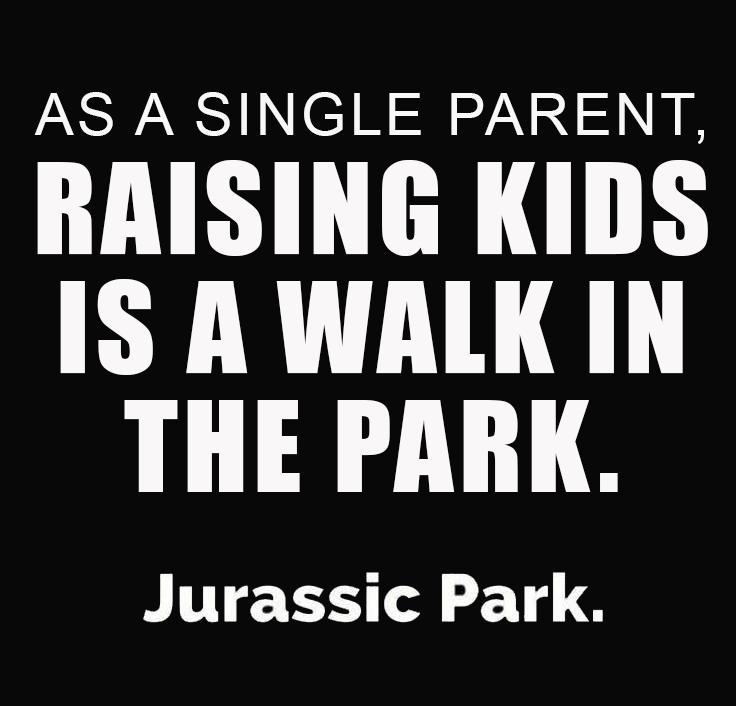 single mom meme jurassic park