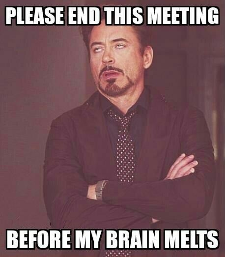end meeting meme