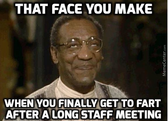 fart during meeting meme
