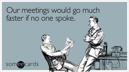 faster meetings meme