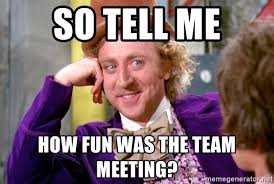 fun team meeting