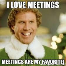 meetings are my favorite