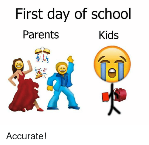 first day of school - funny back to school meme