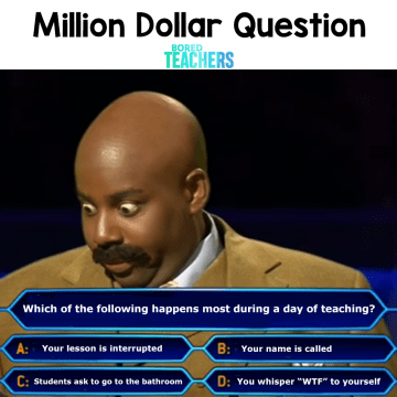 million dollar question teacher memes
